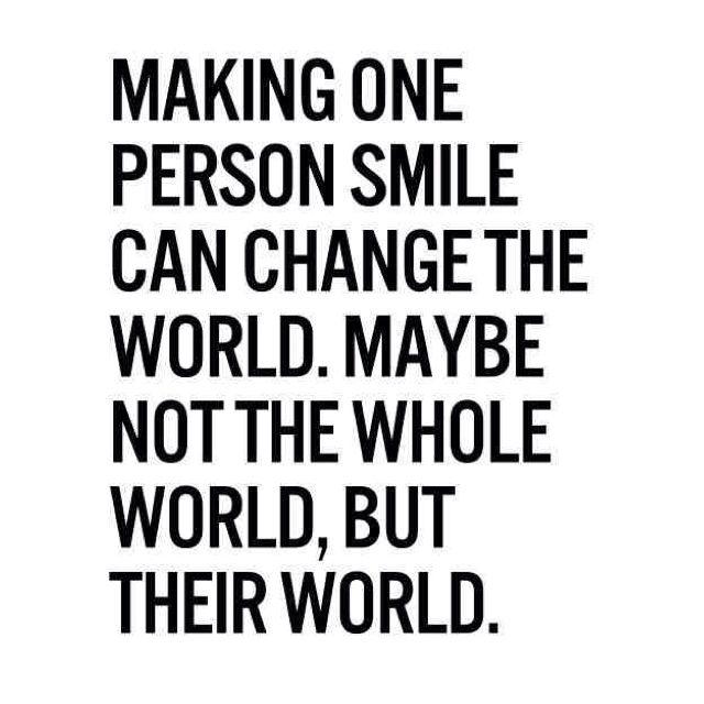 Smile the world needs it!